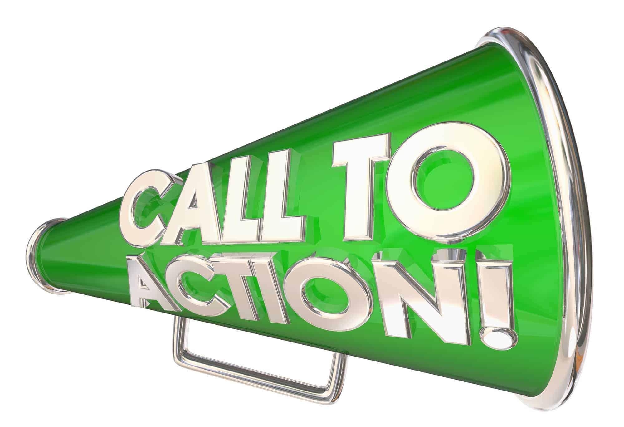 Call to Action On-Call Bullhorn Megaphone