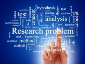 research problems word cloud with related words