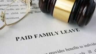 paid family leave with gavel