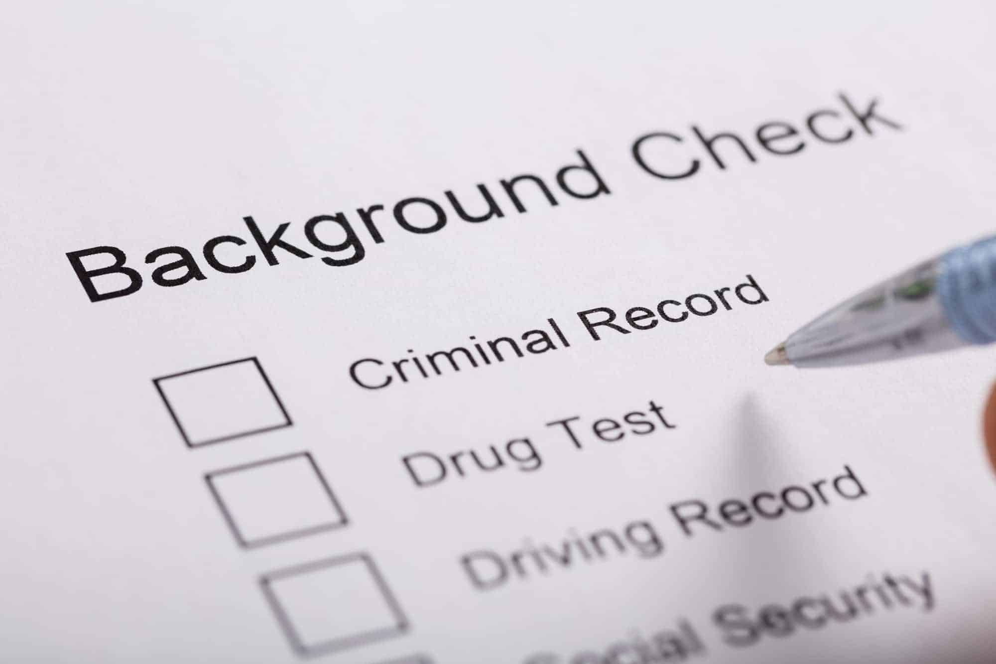 What do background checks show?