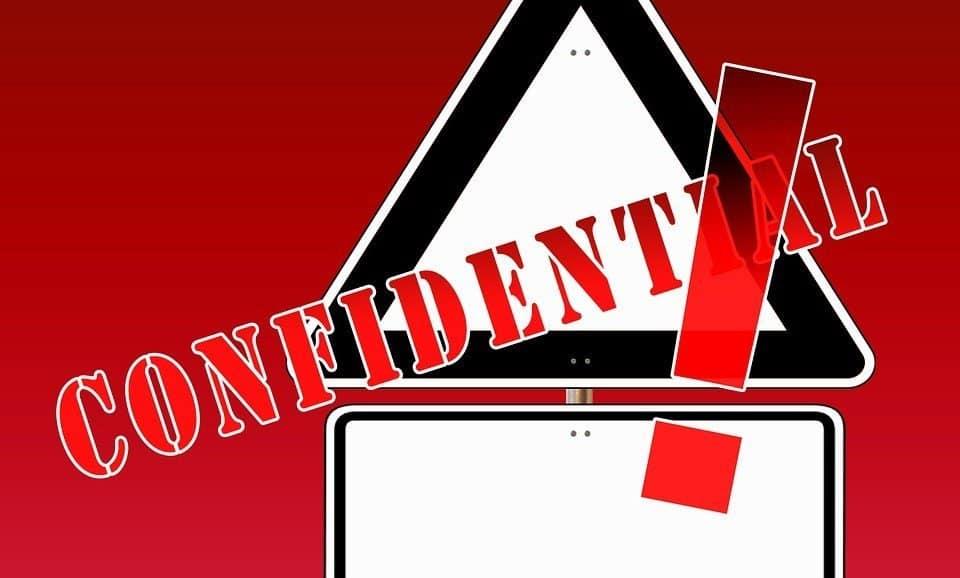 Confidential Sign