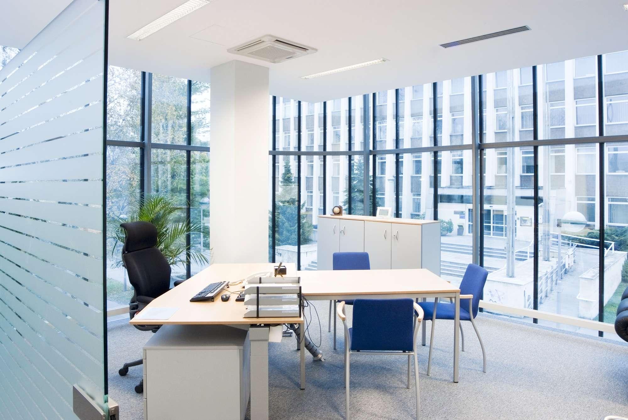 Empty office workplace