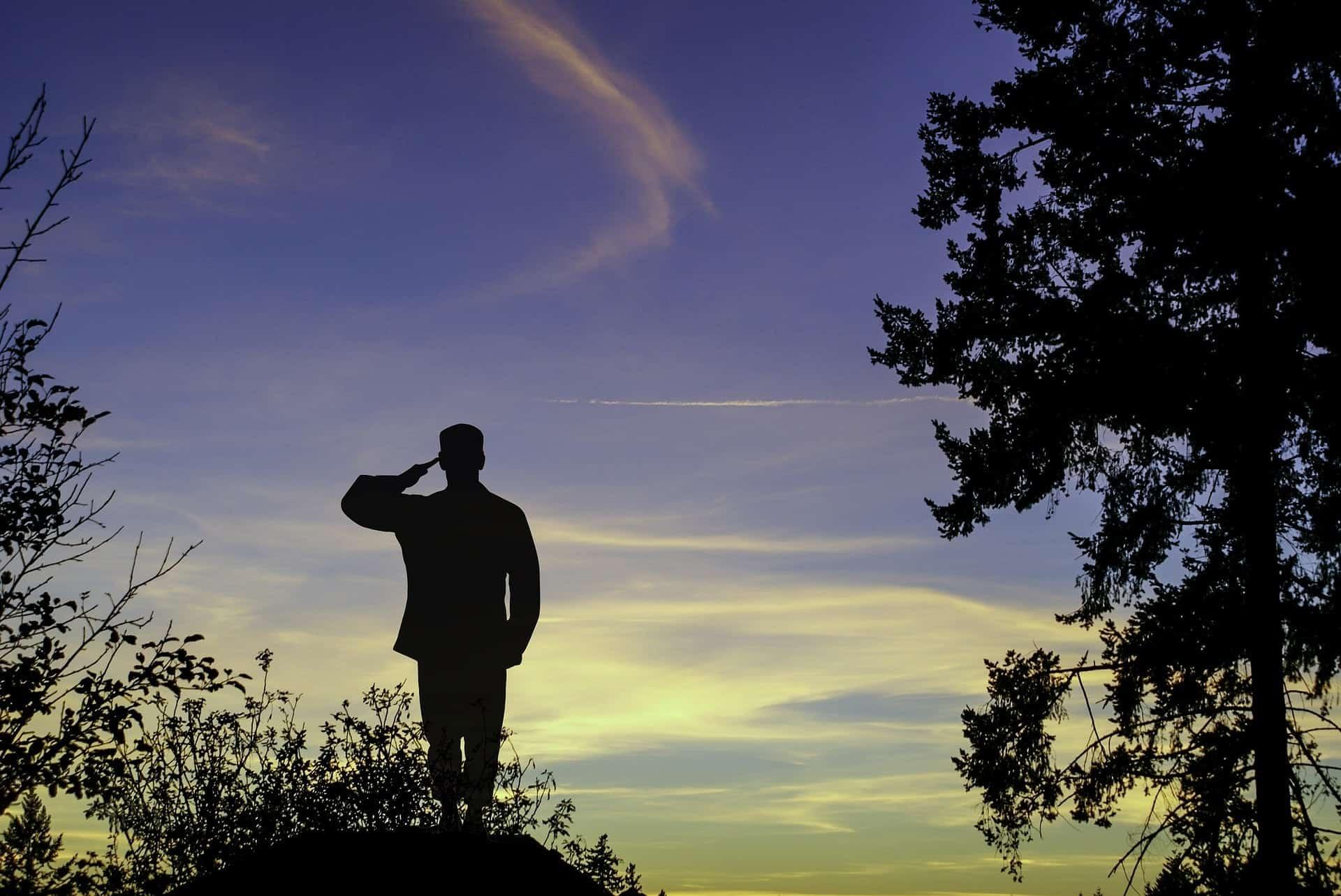 saluting-veteran-silhouette